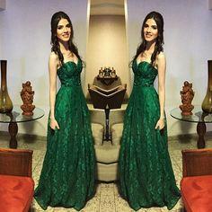Emporio HD: A nossa cliente Carolina Lisboa e seu vestido verde de renda…