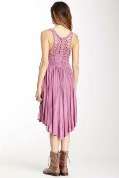 Cast Your Net Crochet Back Dress