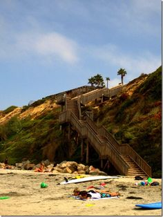 """San Diego, CA beach staircase -- Or in other words """"home to me!"""""""