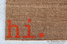 Witty Hand Painted Coir Welcome Mat. A mat that knows you don't always have to be so formal.