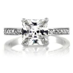 Trista's Promise Ring - Clear Princess Cut