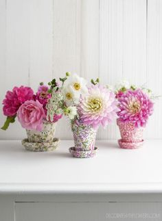 Decorate with Flowers  Liberty flower pots