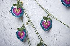 crochet necklace - turkish oya