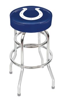Show off your favorite sports team with this Indianapolis Colts Bar Stool by Imperial USA. This bar stool will add the finishing touches to any Indianapolis Colts Man Cave Bar and allow your friends a
