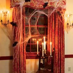 halloween spider web decorations