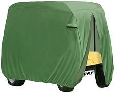 Pyle PCVGFCSO20  Armor Shield Golf Cart Zipper Protective Storage Cover Fits 2 Passenger Car IndoorOutdoor Olive Color -- Read more reviews of the product by visiting the link on the image. Note:It is Affiliate Link to Amazon.