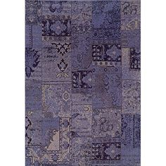One of today's hottest trends, the over-dyed look, is replicated here in washed shades of purple and grey. Encompassing the best of both worlds this rug offers high style, affordability and ease of care.