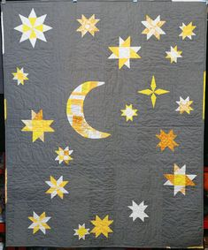 Love this crescent moon quilt!