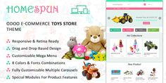 HomeSpun Toy Store Theme for Odoo v9 Ecommerce | 73Lines