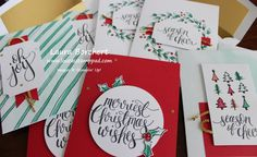 Watercolor Christmas Project Kit, www.LaurasStampPad.com
