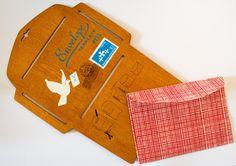 Briefpapier - Bastelhilfe für Umschläge - ein Designerstück von ollilypaperware bei DaWanda