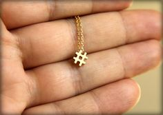 Cool Geeky Jewelry: Hashtag Necklace