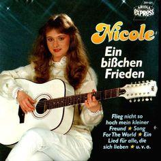"""Nicole - """"Ein bisschen Frieden"""", winner of the Eurovision Song Contest 1982 from Germany"""