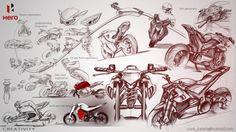 Hero Electric Superbike for 2020 by Vivek Kataria, via Behance Bike Sketch, Sketch 2, Motorcycle Design, Bike Design, Concept Motorcycles, Cars And Motorcycles, Industrial Design Sketch, Sketch Inspiration, Transportation Design