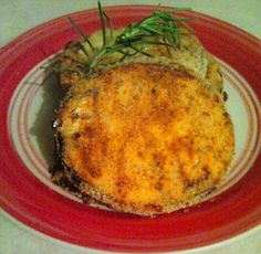 Baked eggplant with cheddar cheese!