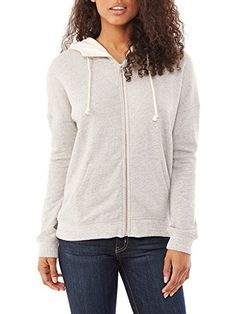 66e85b5167b7 Amazon.com  Alternative Womens Organic Light French Terry Zip Hoodie Medium  Heather Grey (0607048719965)  Books