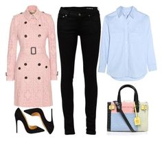 """""""street style"""" by ecem1 ❤ liked on Polyvore featuring Burberry, Kurt Geiger, Yves Saint Laurent, Equipment, Christian Louboutin, women's clothing, women, female, woman and misses"""