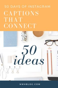 50 Ideas For Captions That Connect Mail Chi Internet Marketing, Social Media Marketing, Email Marketing, Creative Business, Business Tips, Get Instagram, Instagram Marketing Tips, Business Education, Feeling Stuck