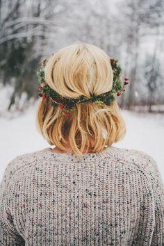holiday hair wreath