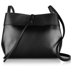 Kara Tie leather shoulder bag (33.950 RUB) ❤ liked on Polyvore featuring bags, handbags, shoulder bags, purses, bolsas, black, leather hand bags, crossbody purse, leather crossbody purse and leather man bag