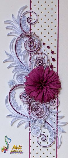 Quilled card by Neli