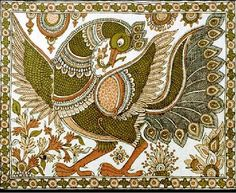 Indian Painting Styles...Kalamkari Paintings (Andhra Pradesh)-peacock1-22-.jpg