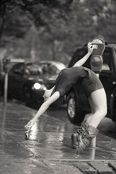 'Just paying the meter. Great photo series of ballet dancers out in the real world.' I find this hilarious.