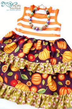 October Harvest Festival dress MOMI boutique toddler girl dress