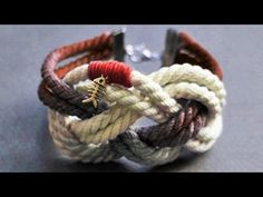 Pulseras con nudo marinero / sailor knot bracelets ♥ - YouTube
