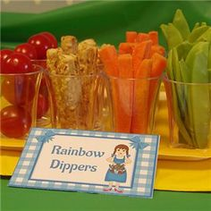 Wizard of Oz Party Food Rainbow Dippers