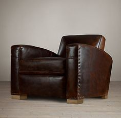 Restoration Hardware, Leather Library Chair