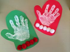 Mitten Handprint Craft for Little Kids.  Fun Winter Craft for Kids.