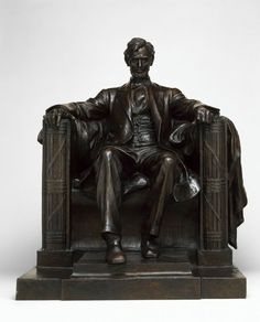 Daniel Chester French (American, 1850-1931)  Abraham Lincoln, 1916  Bronze  height - 33 inches Wheres Waldo, Art Institute Of Chicago, Abraham Lincoln, Presidents Usa, Lion Sculpture, Bronze, Statue, American