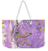 Doily Packing Tape Transfer  Weekender Tote Bag by Sandra Foster