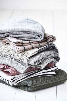 Buy this fantastic Woven Wool Striped Throw online today at BLANC living, the home of high- quality, eco-friendly and natural dry cleaning products. Scandi Home, Nordic Home, Scandinavian Home, House Doctor, Plywood Furniture, Design Furniture, Colorful Apartment, Turbulence Deco, Linens And More
