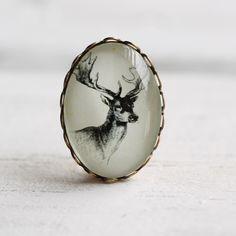 Stag Head Brooch ... Miniature Vintage Deer Heritage Pin by SilkPurseSowsEar on Etsy https://www.etsy.com/listing/75077725/stag-head-brooch-miniature-vintage-deer