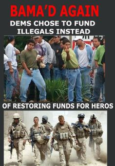 #TXpolitics #NCpol Democrats chose to fund illegals instead of restoring funds to our heroes.