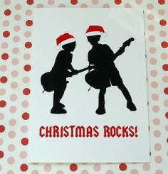 Custom Silhouette Christmas Rocks Card made from by silhouetteshop, $40.00