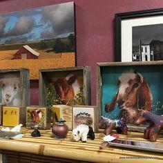 local paintings at Poppies Gallery in Woodland, California; https://weekendadventuresupdate.blogspot.com/2016/09/5-north-woodland-first-friday-art-walk.html