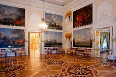 Chesma Hall at the Grand Palace in Peterhof, west of Saint-Petersburg, Russia