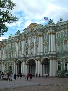 Entrance to the winter palace and the Hermitage museum, St. Petersburg, Russia
