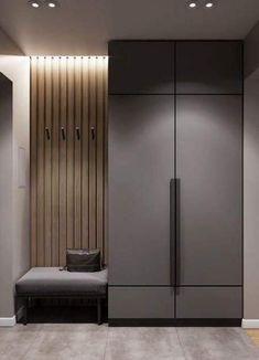 modern_ray_ cabinet - Pin To Pin Wardrobe Interior Design, Wardrobe Door Designs, Wardrobe Design Bedroom, Home Interior Design, Hallway Designs, Foyer Design, Hall Design, Home Entrance Decor, House Entrance