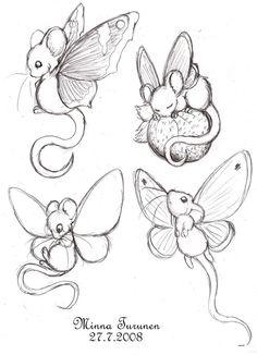 Мышки-бабочки.