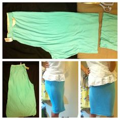 Large pj turn into fitted skirt!