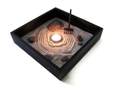 Zen Garden Decor Mini Garden Sand Candle Set  by Paintspiration, $29.00