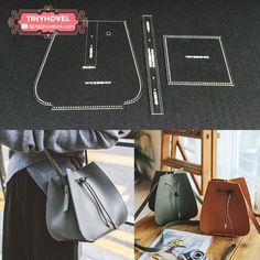 Leather handbag, Shoulder Bag, Leather Bag Acrylic Template - 1 size for choose, Leathercraft Pattern Leather Diy Crafts, Leather Bags Handmade, Leather Projects, Leather Craft, Leather Bag Tutorial, Leather Bag Pattern, Leather Purses, Leather Handbags, Leather Wallet