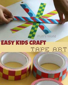 Easy Kids Craft - Tape Art