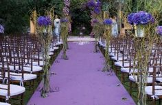 Purple aisle runner - different!