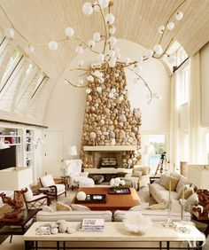34 Best Vaulted Ceiling Living Room Lighting Ideas Images