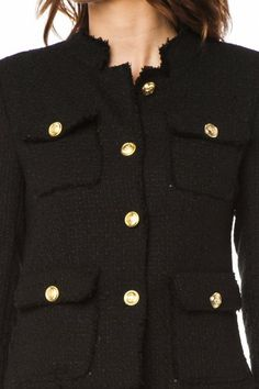 Notte Tweed Jacket in Black